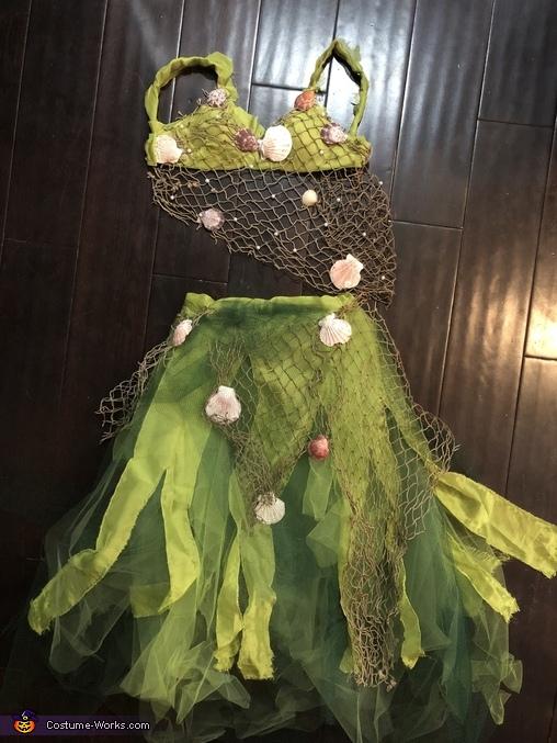 Basic costume - tulle, green fabric, fish netting, etc., Amphitrite - Sea Goddess Costume