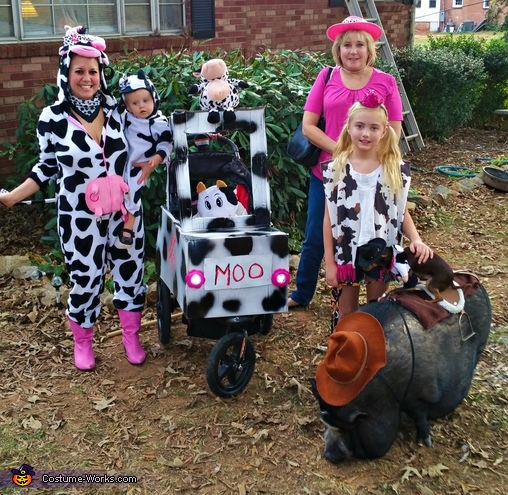 An Udderly Moo-arvelous Halloween Homemade Costume