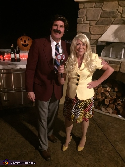 sc 1 st  Costume Works & Anchorman Ron Burgundy and Veronica Corningstone Costume