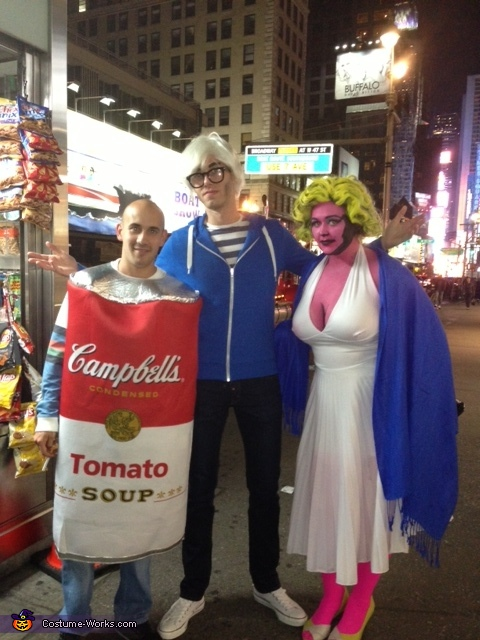 Warhol and I found the tomato soup can!, Andy Warhol's Marilyn Monroe Costume