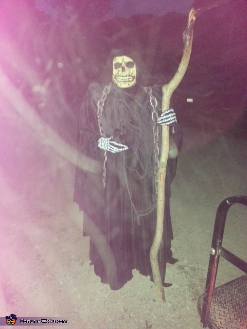 at my mom's for her camp ground Contest., Angel of Death Costume