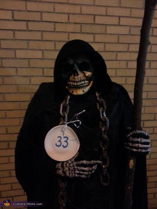 he loves it but it was a little warm..lol, Angel of Death Costume