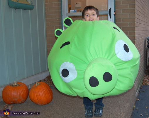 Angry Birds Pig - Homemade costumes for kids