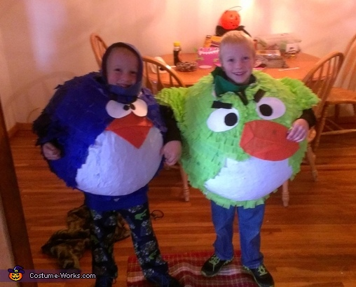 Angry Birds Costume of Paper Mache