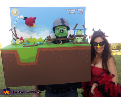 Angry Birds Costume Idea for Couples