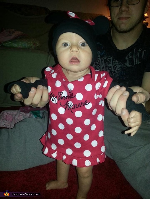 Eva as Minnie Mouse, Angry Ladybug Baby Costume