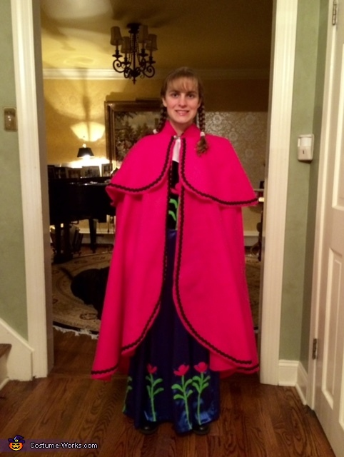 Anna's Cape, Anna from Frozen Costume