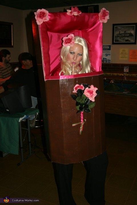 Anna Nicole Smith with Casket Costume