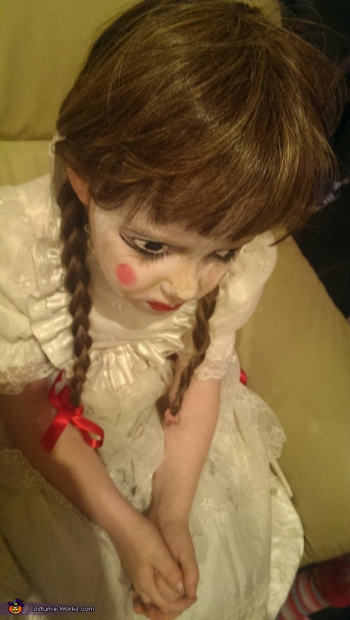 emma whilst getting her facepaint done by me , Annabelle Costume