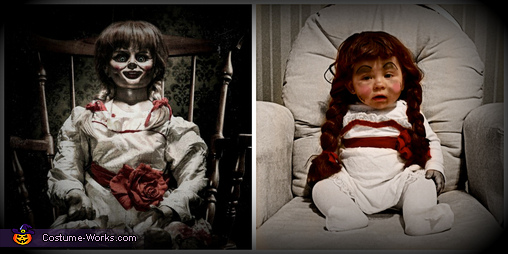 Comparison picture, Annabelle Doll Costume