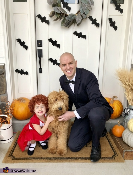 Annie, Daddy Warbucks and Sandy Costume