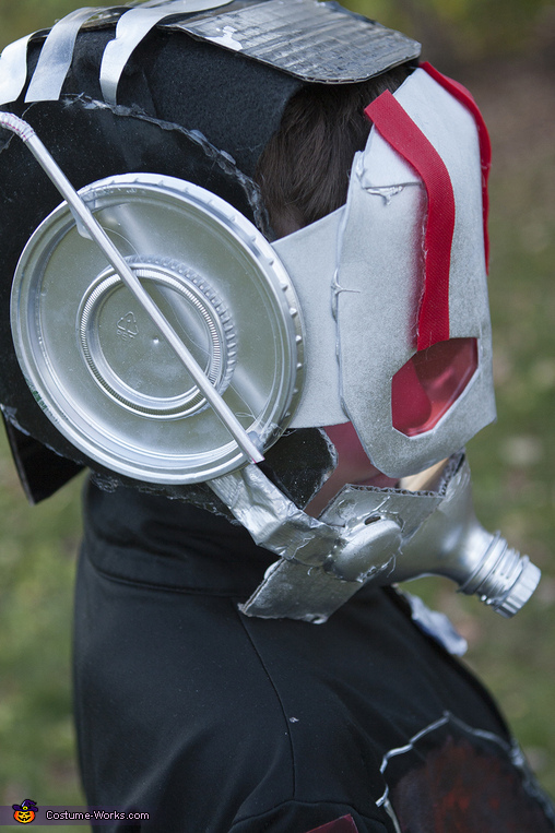 Ant Man Handmade: close up of mask, Ant Man Costume