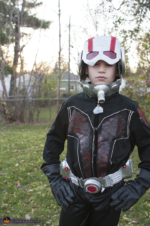Ant Man Handmade: mask down, Ant Man Costume