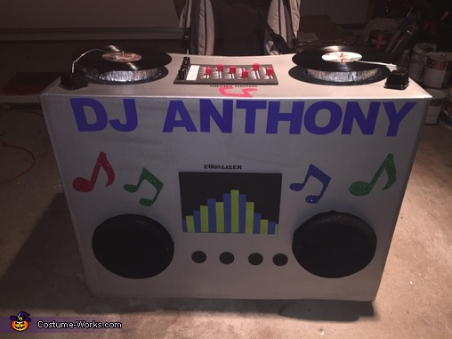 Anthony's Dj Booth Homemade Costume