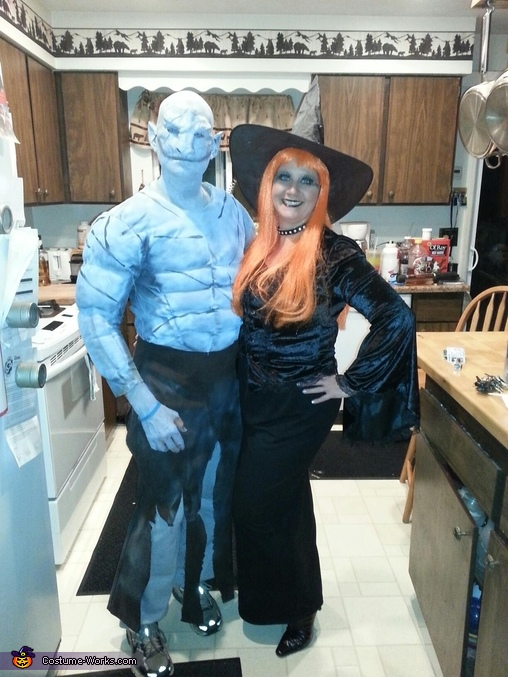 Orc and a Witch, Anubis and Egyptian Queen Costume