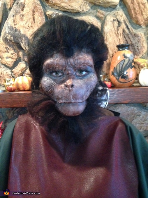Close up final ape , Ape Man Costume