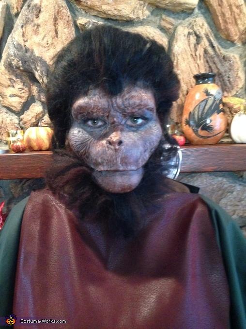 Close up final ape , Ape Man Costume