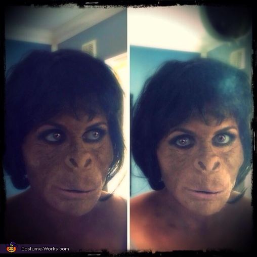 Finished look, Ape Woman Costume