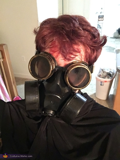 Mask and goggles on no hood, Apocalypse Survivor Costume