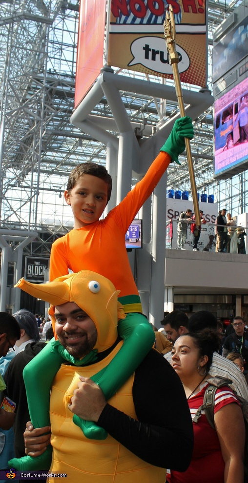 Aquaman and Storm the Seahorse Costume