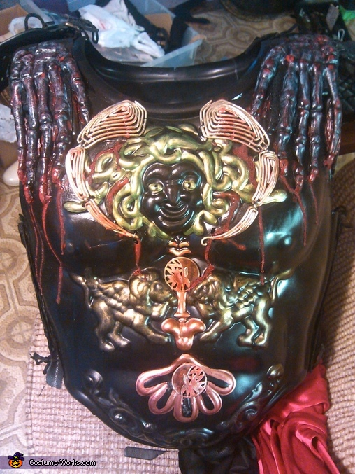 close up of armour, Ares God of War Costume