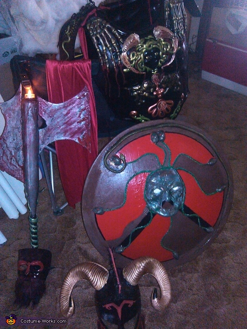accessories and armour, Ares God of War Costume