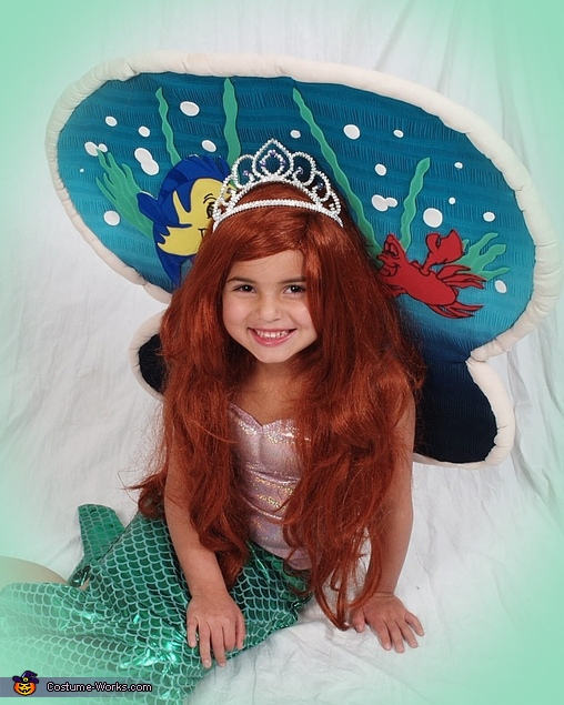 Ariel under the Sea Clam Costume