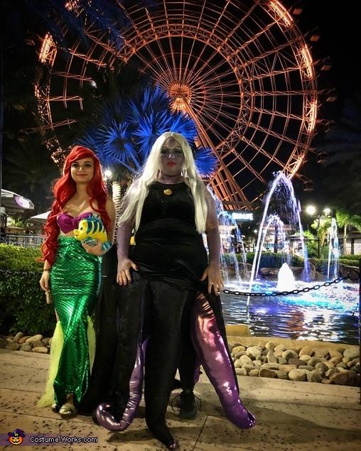 Ariel & Ursula take on I-Drive Orlando, Ariel & Ursula Costume