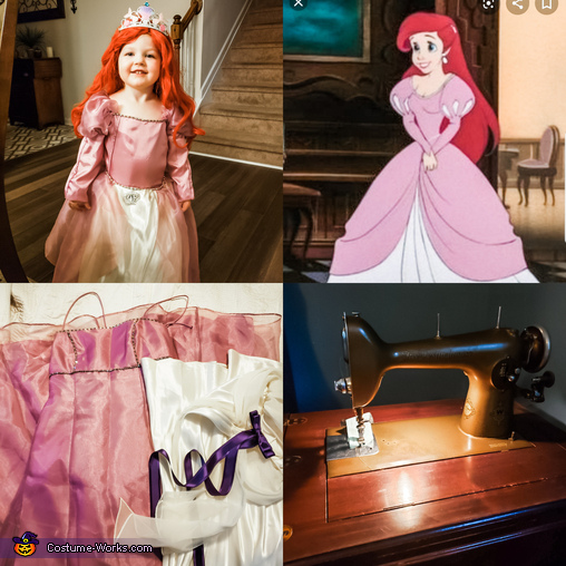 Ariel the Little Mermaid Homemade Costume
