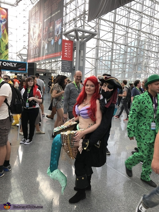 Ariel the Little Mermaid Kidnapped Homemade Costume
