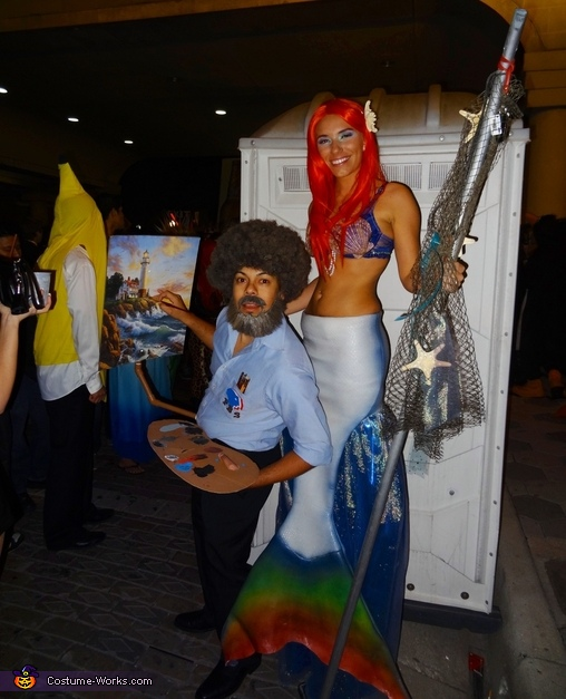 Ariel with bob Ross :), Ariel the not so Little Mermaid Costume