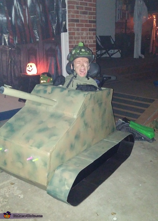 Please don't send me, I'm too young!, Army Tank Driver Costume