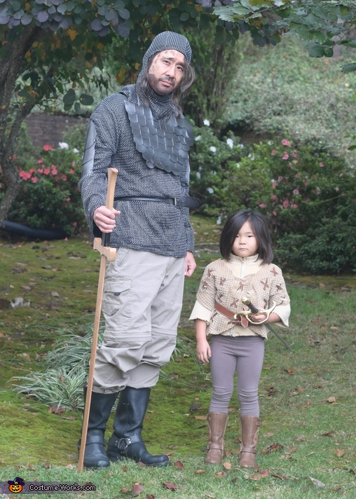 Arya Stark and The Hound from Game of Thrones Costume