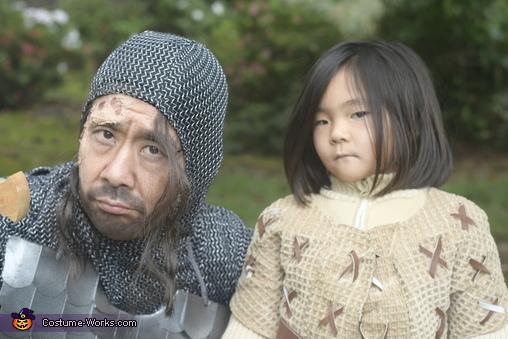 Arya and The Hound, Arya Stark and The Hound from Game of Thrones Costume