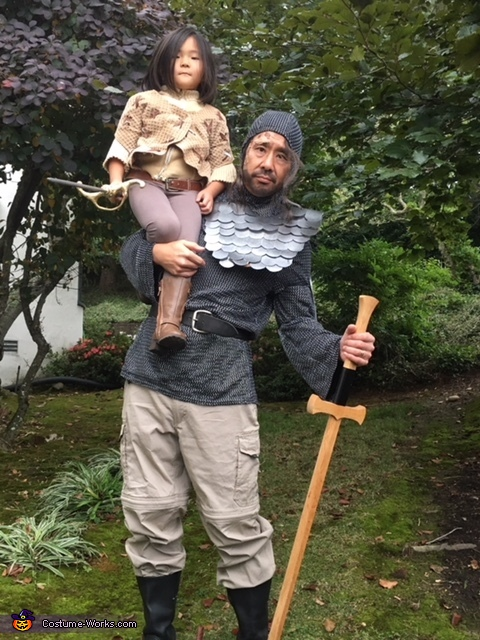 Arya and the Hound, Arya Stark and The Hound from Game of Thrones Costume