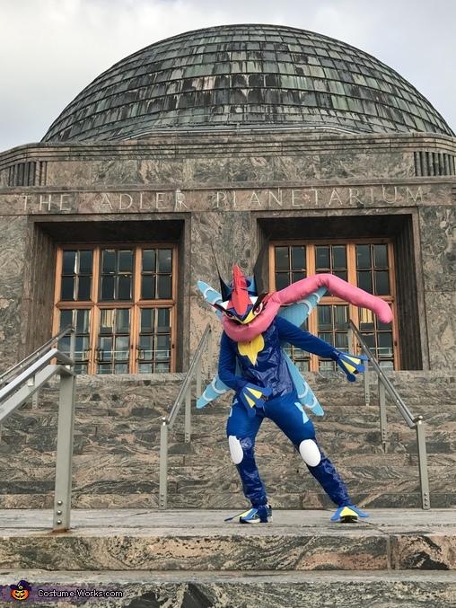 At the Adler Planetarium - a Pokemon Go hotspot, Ash-Greninja Costume