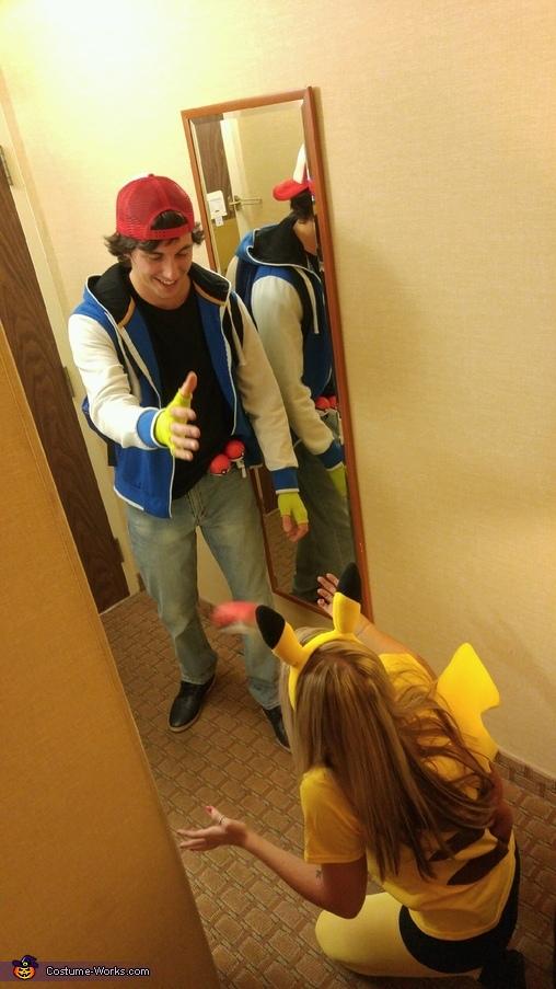 Ash and Pikachu Homemade Costume