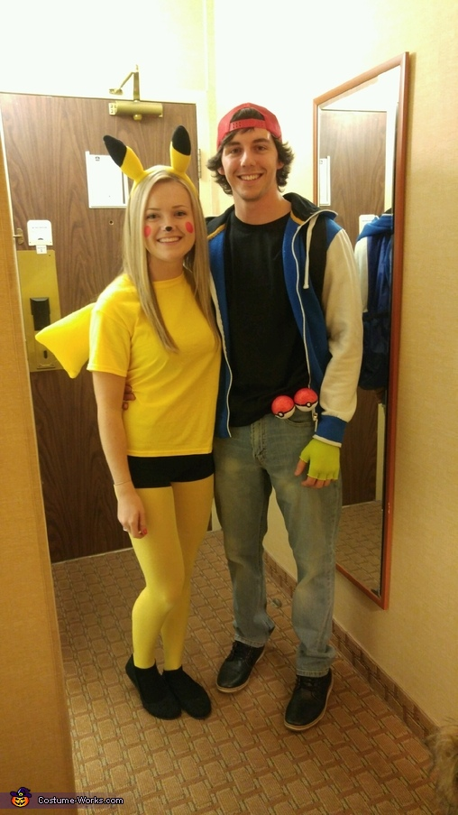 Ash and Pikachu Homemade Costume