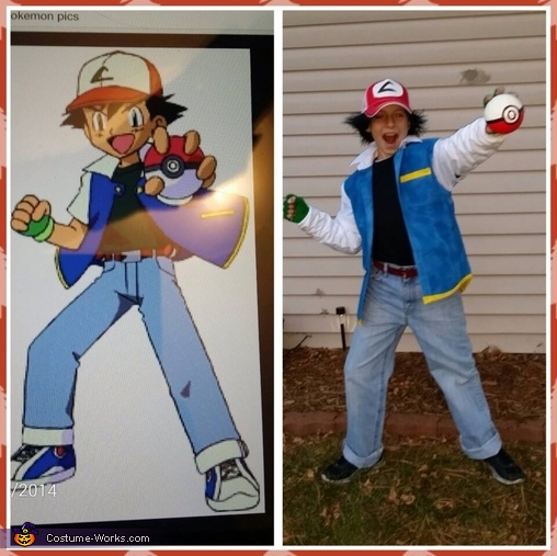 Ash Ketchum from Pokemon Homemade Costume