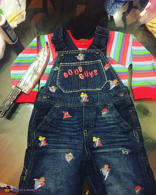 The costume... hard work, but we'll worth it!!!, Chucky Costume