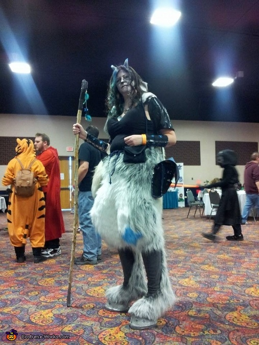 Another view of the suit, Asteria the Faun Costume