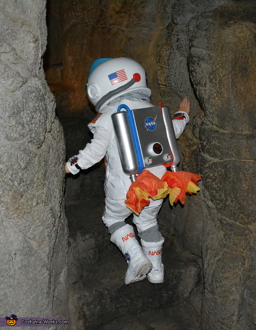 Exploring outer space caves!, Astronaut and Mission Control Costume