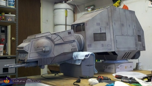 Paint and lining done, AT-AT Imperial Walker Costume