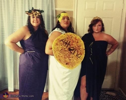 Greek Goddesses Athena, Aphrodite and Hera Costume