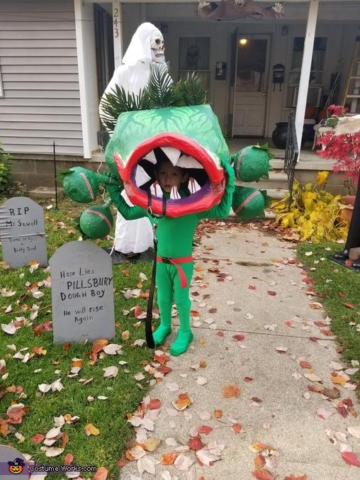 Audrey ahe Venus Flytrap Homemade Costume