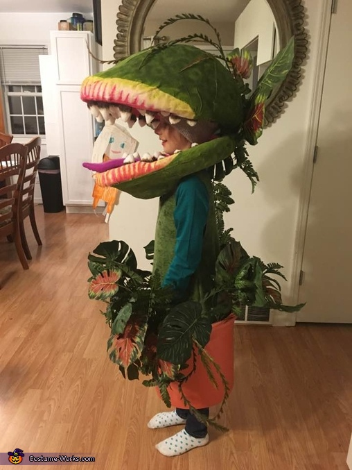 Side view of Audrey II costume, Audrey II from Little Shop of Horrors Costume