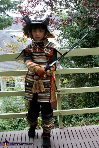 Authentic Samurai Costume - Homemade costumes for boys