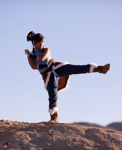 Korra learning firebending kicks!,  Avatar Korra Costume