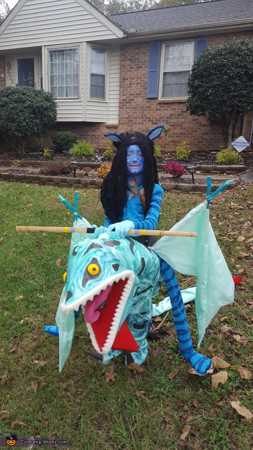 Avatar Neytiri riding Banshee Homemade Costume