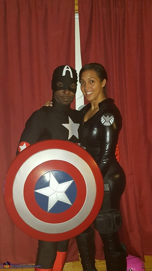 Agent Marie Hill and Captain America, Avengers Family Costume